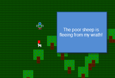 Fleeing Sheep
